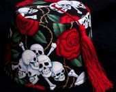 Skull & Roses limited-edition fez hat