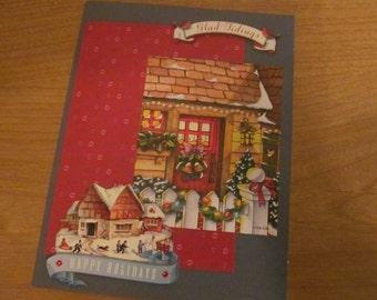 Glad Tidings upcycled Mary Engelbreit Christmas card