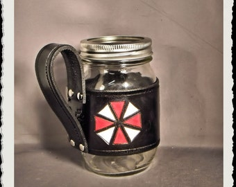 Leather Mason Jar - Umbrela Corporation -