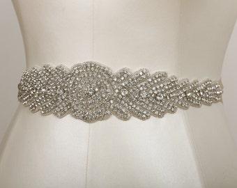 Deborah Crystal Beaded Bridal Sash