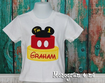 1st Birthday Mickey Mouse Shirt, I'm 1 mouse birthday