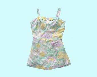 1960s Pastel Swimsuit Romper size M