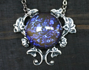 Tanzanite Dragon Breath Fire Opal Necklace