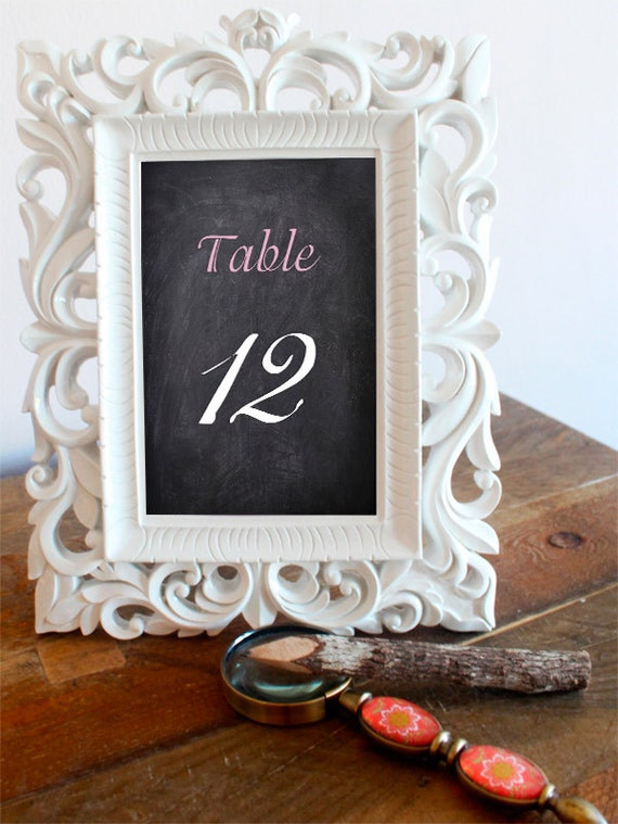 chalkboard table numbers ~ 5 x 7 table numbers chalkboard table number card