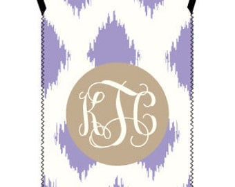 IKAT wine tote - customizable pattern and monogram - fits both standard 500ml and larger 1.5 liter bottles