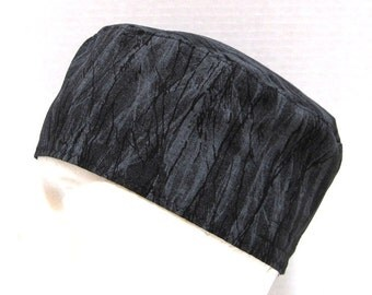 Mens Surgical Scrub Hat Shades of Grey and Black