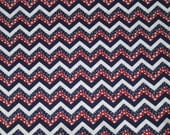 Red, White, and Blue 1/4 in. Stars and Stripes Chevron Surgical Scrub Top / X Small - XX Large