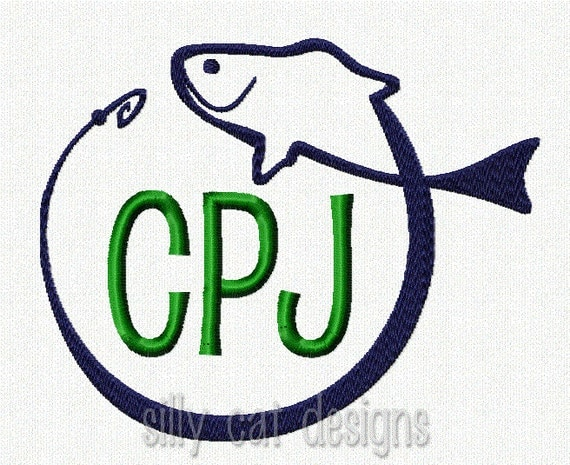 Fish Frame Embroidery Design