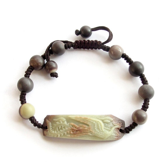 Lucky Phoenix Two Layer Natural Stone Bead Beads Adjustable Bracelet  T3211