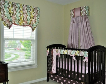 bumperless crib bedding set of 9 pc ready to ship ALL included, inventory SALE