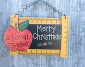 Special Teacher Merry Christmas ornament PERSONALIZED for FREE - Teacher Gift