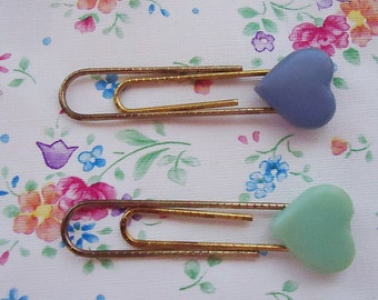 Two Japanese Heart Paper Clips. 1980s