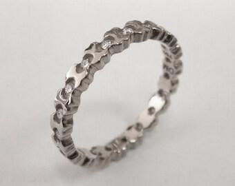 Eternity Ring, Platinum diamond Ring, Diamond Band, Eternity Ring, Platinum Eternity Band, Platinum Eternity Ring, Delicate Band, 5