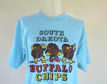 Dancing Buffalo Chips South Dakota Novelty Shirt Top