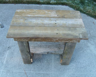 Weathered table