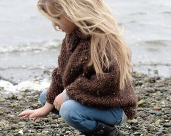 Knitting Pattern - Riyver Cape (2, 3/4, 5/7, 8/10, 11/13, 14/16, S/M, L/XL sizes)