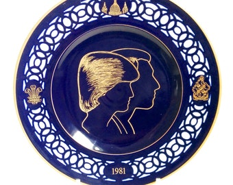 SALE Lady Diana and Prince Charles Commemorative Wedding Plate. Limited Edition Bing and Grondahl Denmark 1981