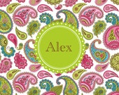 Monogrammed Laminated Placemat  PAISLEY