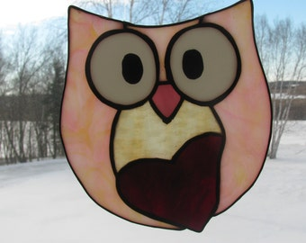 Owl Always Love You - Pink - Suncatcher