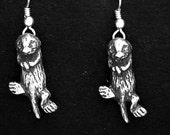 Sterling Silver Sea Otter Earrings on Sterling Silver French Wires