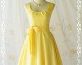 Yellow dress yellow vintage dress yellow sundress summer dress yellow party dress yellow bridesmaid dresses lemom yellow dress