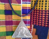 Pyramid Necklace-Brass and Leather