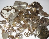 20g WHOLE WATCHES PARTS Pieces Old Gears Plates Steampunk Watch Movements minimal Rust