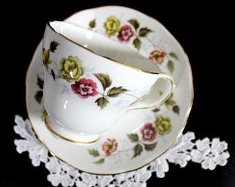 Tea Cup and Saucer, Duchess Teacup, English Bone China, Romance Tea Cup Set 12182