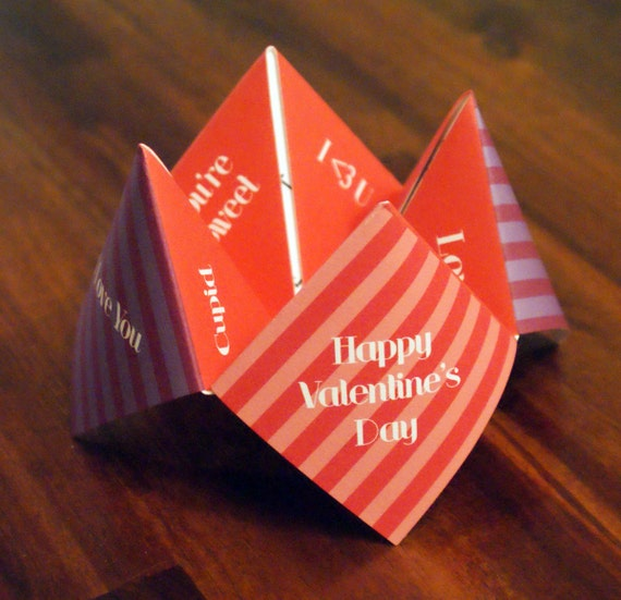 items similar to kids valentine card cootie catcher