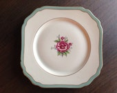 Morning Rose Royal York Hohenberg Germany Vintage Porcelain Plate Discontinued