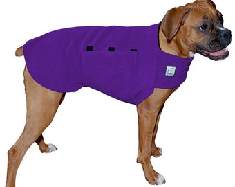 BOXER Tummy Warmer, Fleece Dog Coat, Sweater for Dogs, Dog Jacket, Dog Vest, Dog Shirt, Dog Sweatshirt, Dog Clothes, Dog Jammies, Boxer Dog