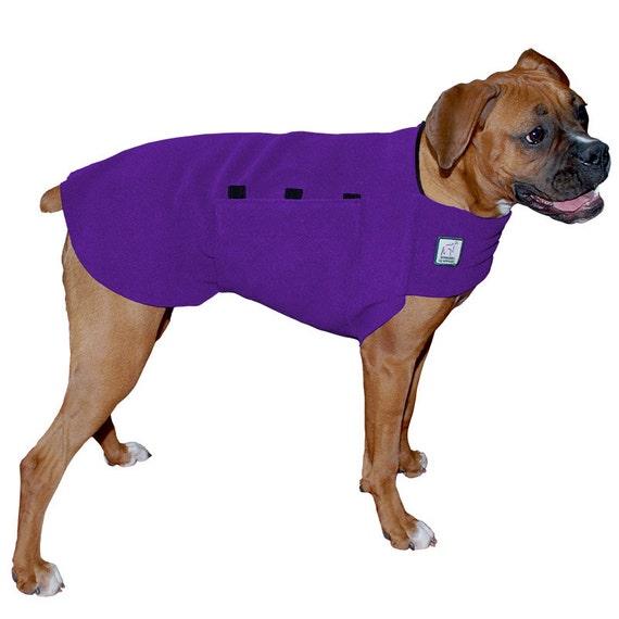 BOXER Tummy Warmer, Dog Clothing, Dog Sweater, Fleece Dog Coat