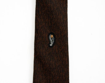 Black and Brown Skinny Tie