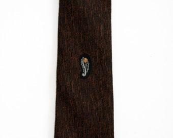 Black and Brown Skinny Tie