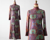 1960s sequin maxi dress by Malcolm Starr