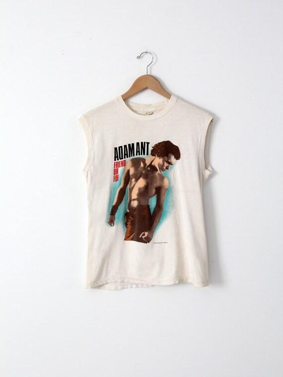 Adam Ant t-shirt, vintage 80s muscle tee, Friend or Foe tank
