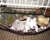 """Large (15""""x17"""") Double Layered Hammock, Ferrets, Rabbits, Chinchillas, Guinea Pigs, Rats, Cats, Dogs, Raccoon's, Hunting Lodge"""