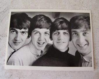 Vintage Beatles Greeting Card Blank Card Unused John Paul George and Ringo Beatles 1994