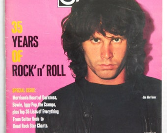 1990 SPIN Magazine — 35 Years Of Rock n' Roll — Jim Morrison Cover
