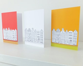 Amsterdam Card, Blank Card with envelope, Travel, Greeting Cards, Thank You Cards, Note Cards, Notecards