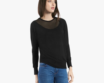 Batwing sweater, sexy top, womens going out tops