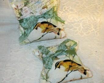 French Lavender Sachet Vintage French Market Bird Sachet Handmade Lavender Sachet for a Tranquil Night Sleep
