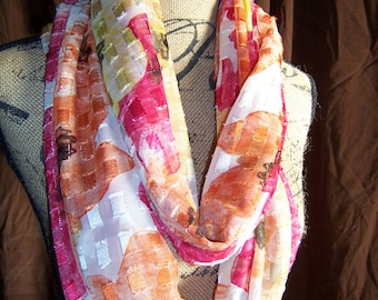 Infinity Scarf for Women, Ladies, Handcrafted from Bright Beautiful Colors