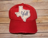 TEXAS RED HAT with Script Y'all
