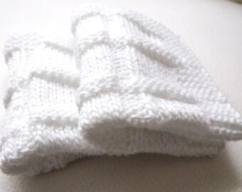 2 Pcs White Cotton Crochet  Dishcloths...Crochet Wash cloth..Crochet Pattern ...Crochet bath and beauty...Crochet Kitchen Cleaning
