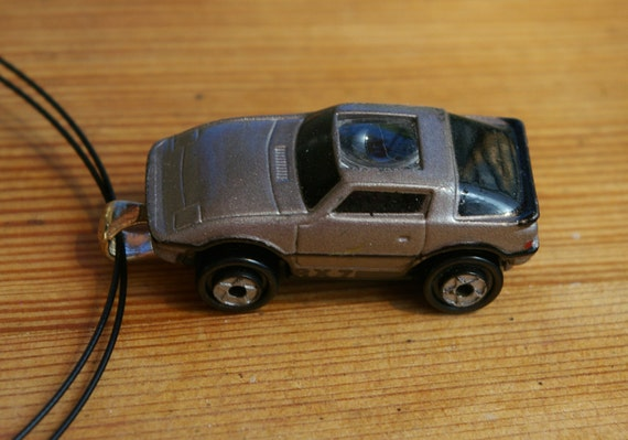 Silver Sports Car Micro Machine Car Pendant