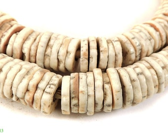 Trade Beads Ostrich Egg Shell Heishi Discs African 93967