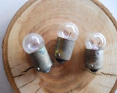 tiny light bulbs, radio indicators, GE 51 little bulbs, for mixed media, steampunk, jewelry, bug art, quantity of 20