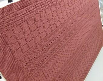 Skerin  Aran Knit Afghan Pattern