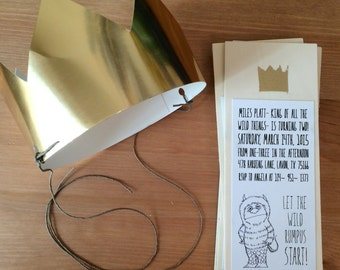 WOODEN MAILABLE INVITES- Where the Wild Things Are (Quantity 5)